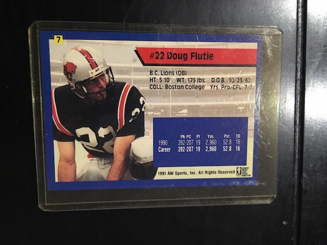 1991 All World CFL French #7 Doug Flutie - 2