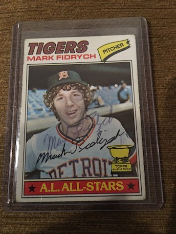 mark fidrych 1977 Topps RC autographed