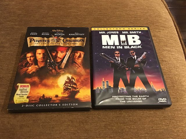 Pirates of the Caribbean and Men in Black DVD Lot