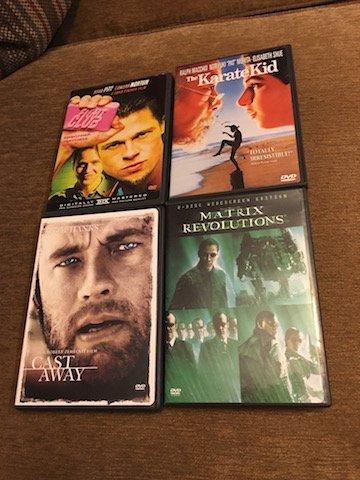 Fight Club Matrix Castaway and The Karate Kid DVD Lot
