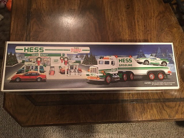 hess truck and race car