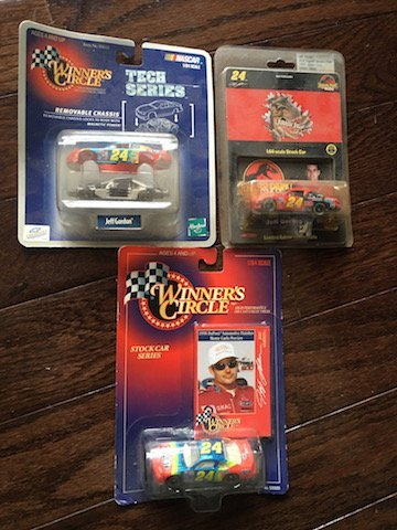 3 Jeff gordaon diecast cars: Jurassic Park and more