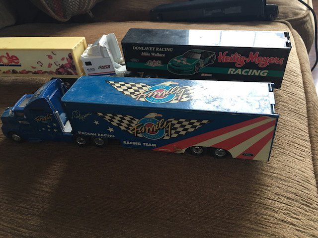 lot of 4 18 Wheel Truck Diecast trucks - 2