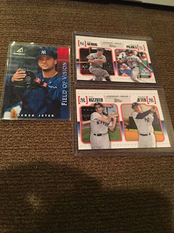 Derek Jeter and Lou Gehrig Lot with inserts