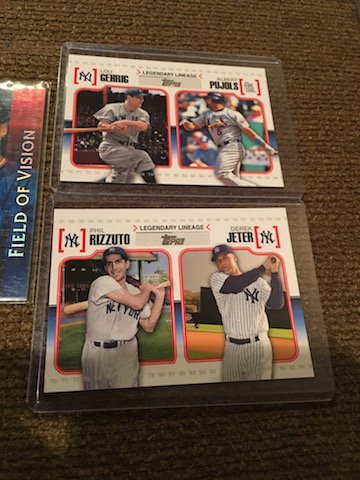 Derek Jeter and Lou Gehrig Lot with inserts - 2