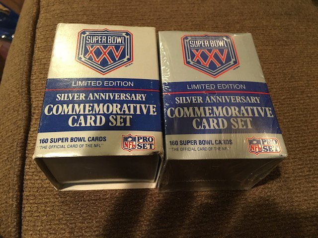 Super Bowl XXV Silver Anniversary Set of 2 Sets