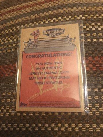WWE Trish Stratus 2012 Topps Heritage WrestleMania 27 - 2