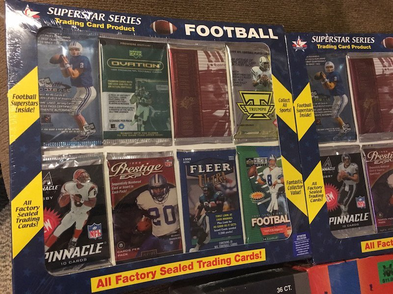 Sports Card Lot: Unopened Football Packs,1998 Packs - 3