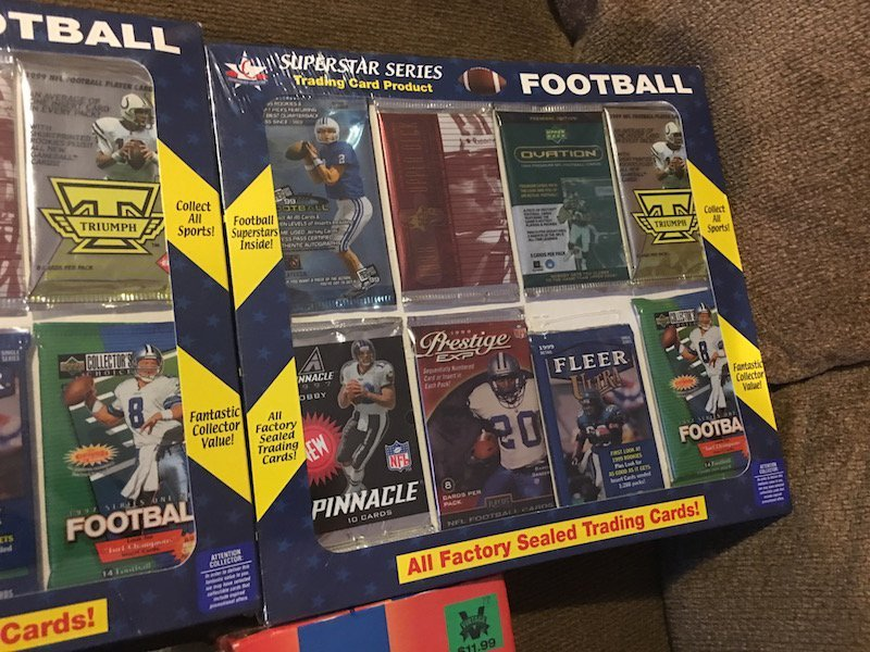 Sports Card Lot: Unopened Football Packs,1998 Packs - 4