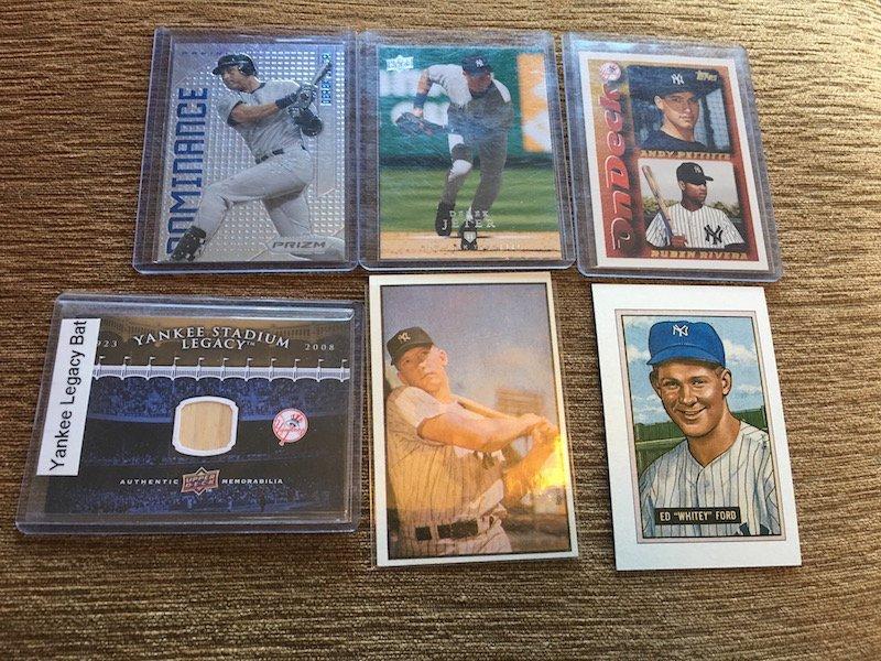 New York Yankees Card Lot: Derek Jeter Mickey Mantle,