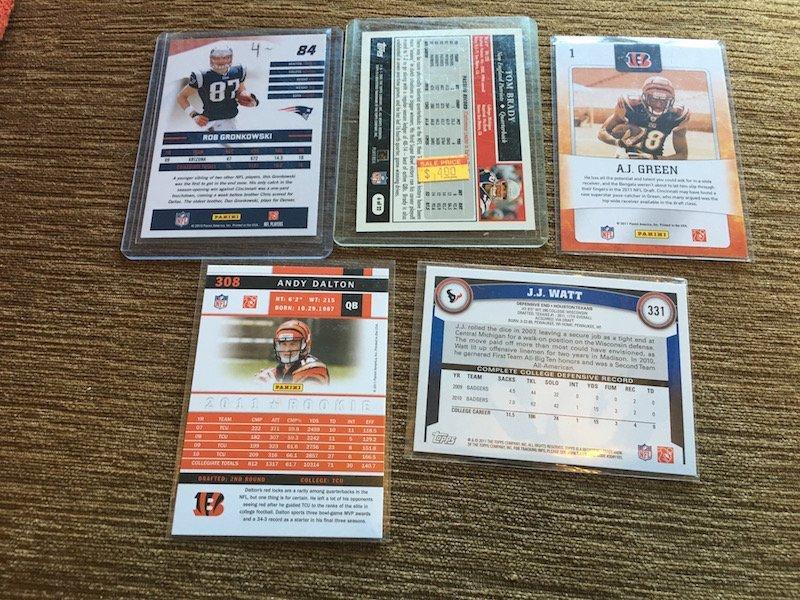 Football card Star RC Lot: Rob Gronkowski RC JJ Watt RC - 2