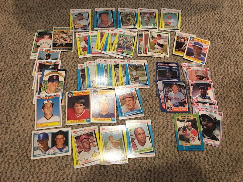 Vintage Baseball card Lot: Mantle, Ripken, Willie Mays