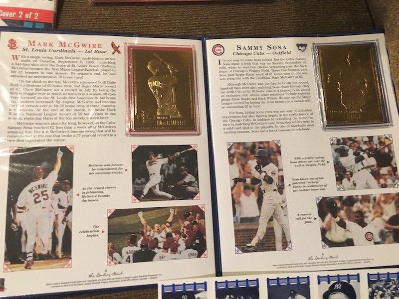 Mcgwire Sosa Dandury Mint Gold Card set Babe Ruth Tuff - 3
