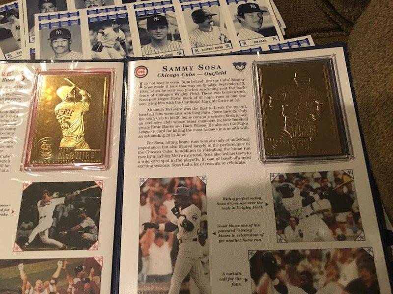 Mcgwire Sosa Dandury Mint Gold Card set Babe Ruth Tuff - 6