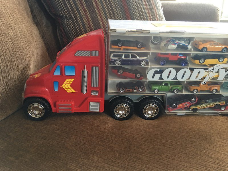 Matchbox hot wheels Good Year Semi Car & Truck Display - 3