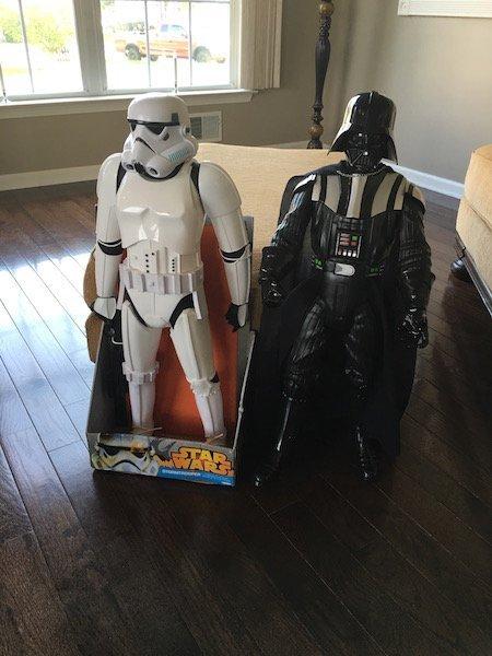 Stormtrooper and Darth Vader 31In Star Wars Figures