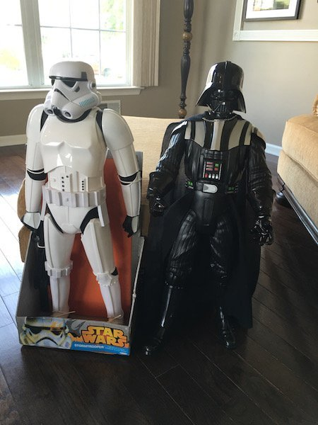 Stormtrooper and Darth Vader 31In Star Wars Figures - 2