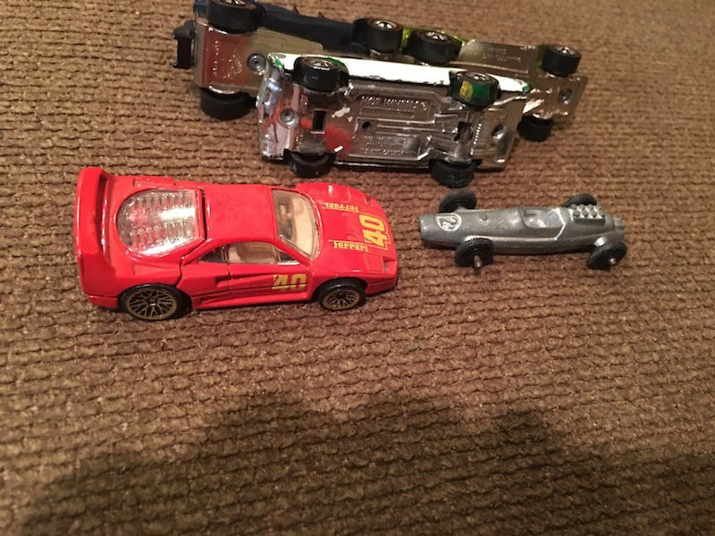 Lot of 5 Hot wheels and Tootsie toy Cars with 3 - 3