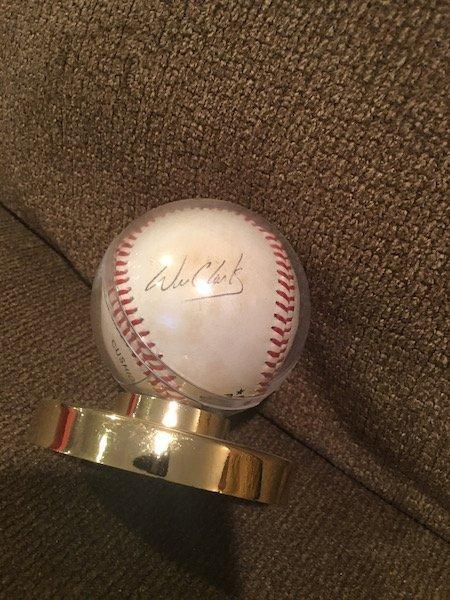 Will Clark Autograph Auto Ball Baseball 100% Genuine or