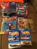 Nascar Toy Figure and Hot Wheels car lot: Jeff Gordon