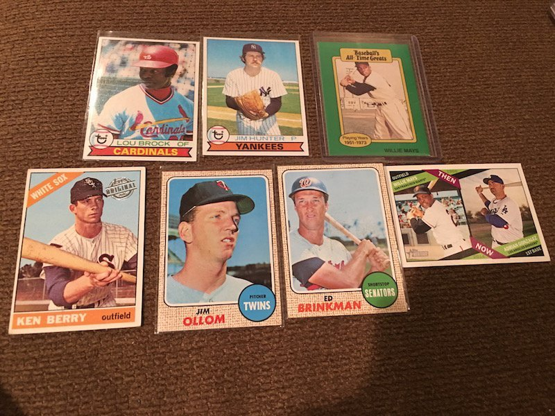 Vintage and Insert Baseball Card Lot: Willie Mays