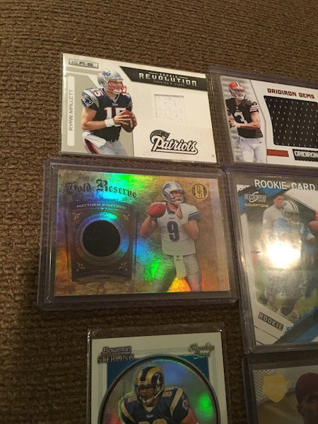 Football Card Auto and Jersey card Lot: Matthew - 2