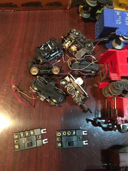 Large Lot of HO and O Scale Trains with Train Motors - 5