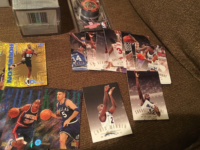 Basketball Card Lot: 1993 Skybox EX Set with Inserts - 2