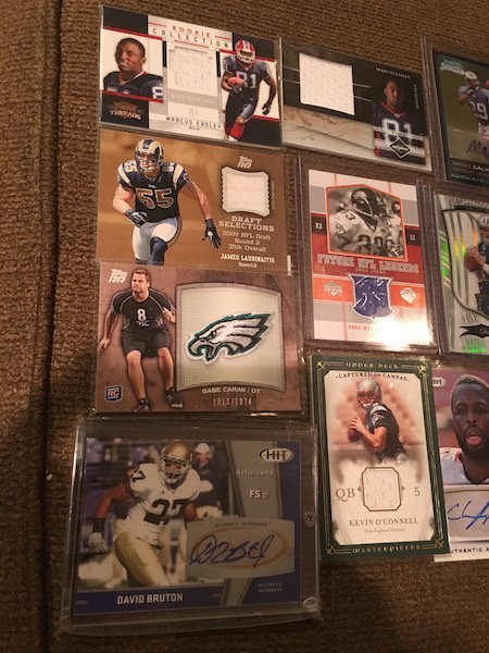 Large Lot of Football Cards Autographs and Jersey - 2