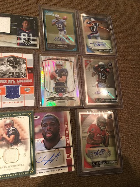 Large Lot of Football Cards Autographs and Jersey - 3
