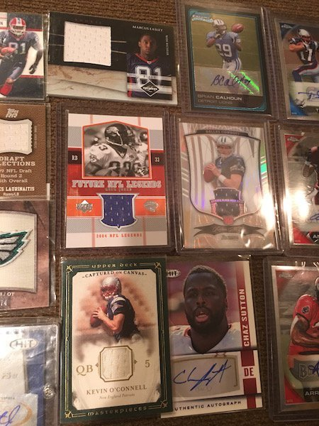 Large Lot of Football Cards Autographs and Jersey - 4