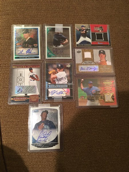 Large Lot of Baseball card Autographs and Jersey cards: