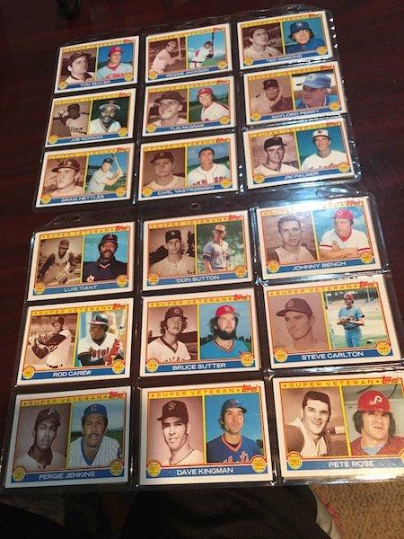 1983 Topps Super Veteran Lot of Baseball cards: Reggie