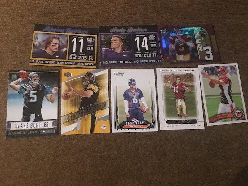 QB RC Football Card Lot: Ben Roethlisberger, Bortles,