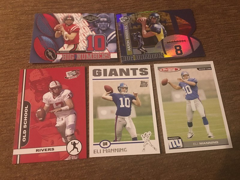 Aaron Rodges Eli manning and Phillip Rivers RC Lot:
