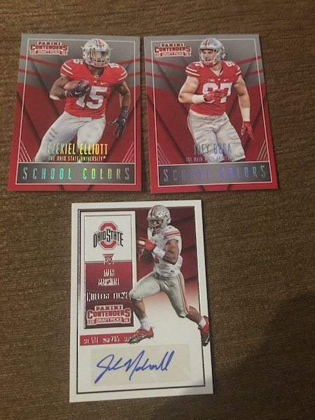 Ohi0 St RC and Autograph Lot: Ezekiel Elliot Joey Bosa