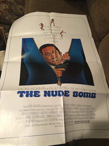 "1980 THE NUDE BOMB Original Poster 27""x41"" Don Adams,"