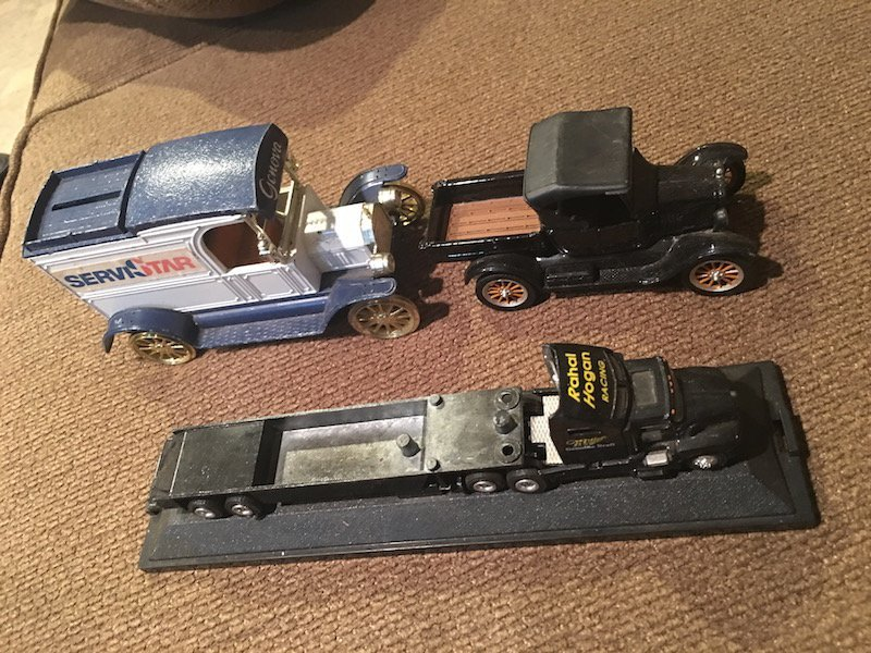 Lot of 3 Diecast Truck Banks and other Cars - 3
