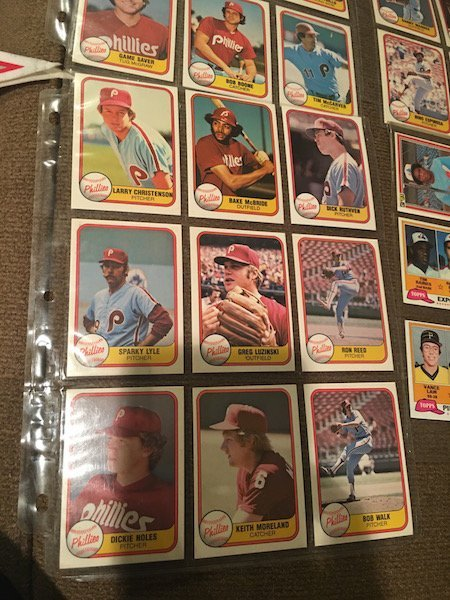 Lot of 1981 Donruss Phillies Lot and Tim Raines RC Lot - 2