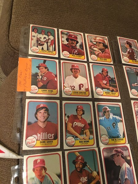 Lot of 1981 Donruss Phillies Lot and Tim Raines RC Lot - 3