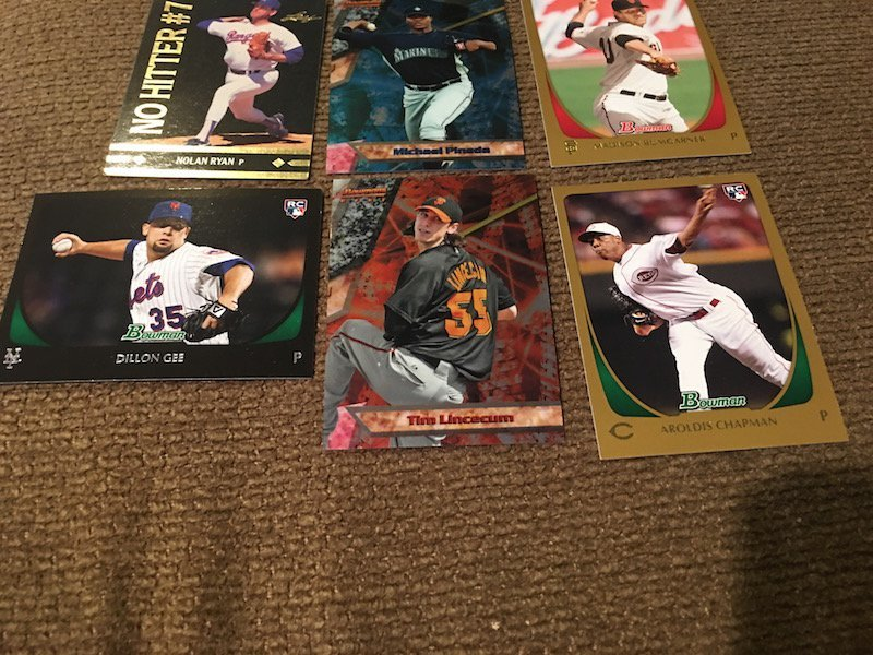 Nolan Ryan Pineda Chapman Baseball card lot - 3