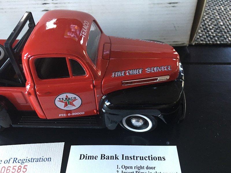 Texaco - 1949 - Ford F1 - Diecast - Fire Chief Service - 4
