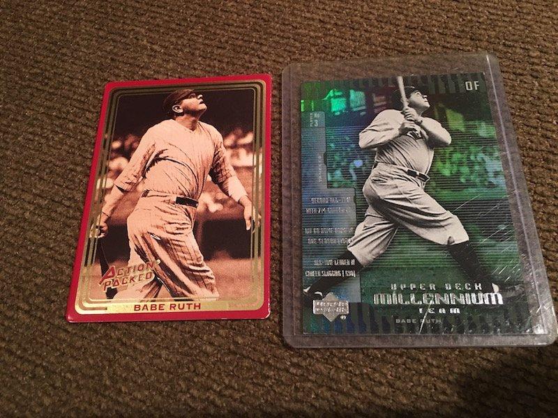 Babe Ruth 2 Card Lot Upper Deck Millennium