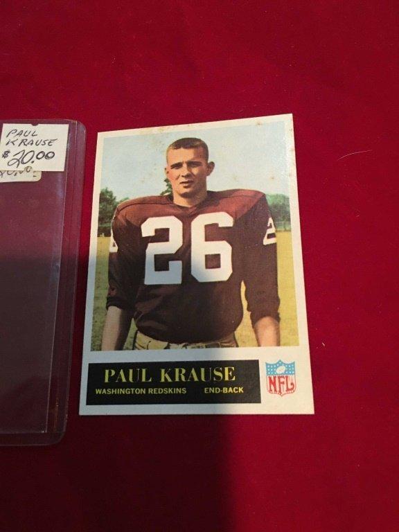 1965 PHILADELPHIA GUM #189 PAUL KRAUSE RC ROOKIE S