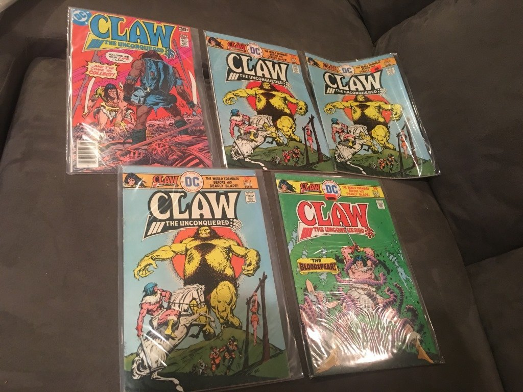 Vintage DC Comic Claw Lot of 5