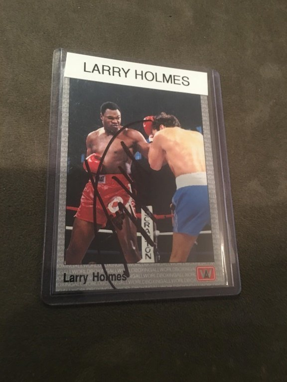 Larry Holmes On Card Auto