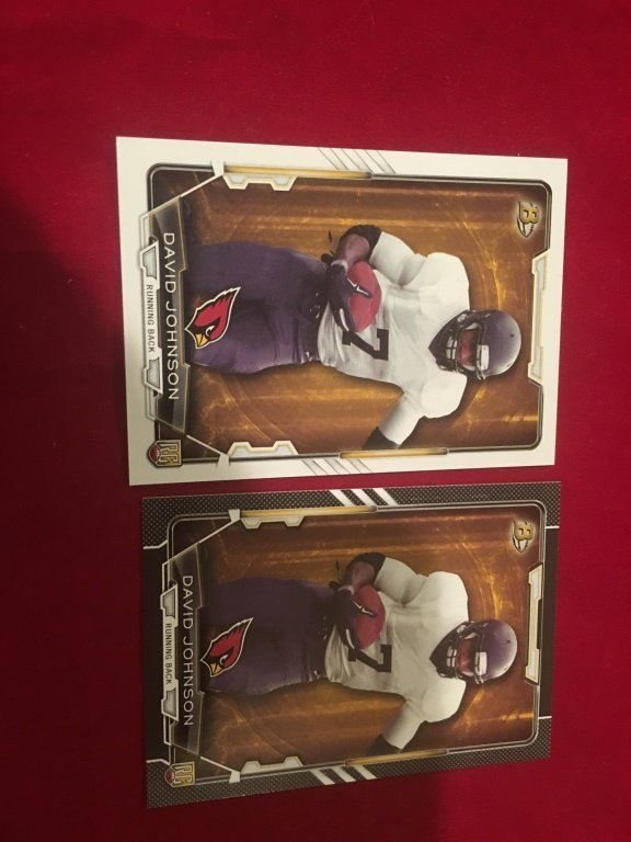 David Johnson  bowman rc and Black RC SP Lot