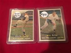 1957 Topps 391 RALPH TERRY RC and Bob Grim Lot