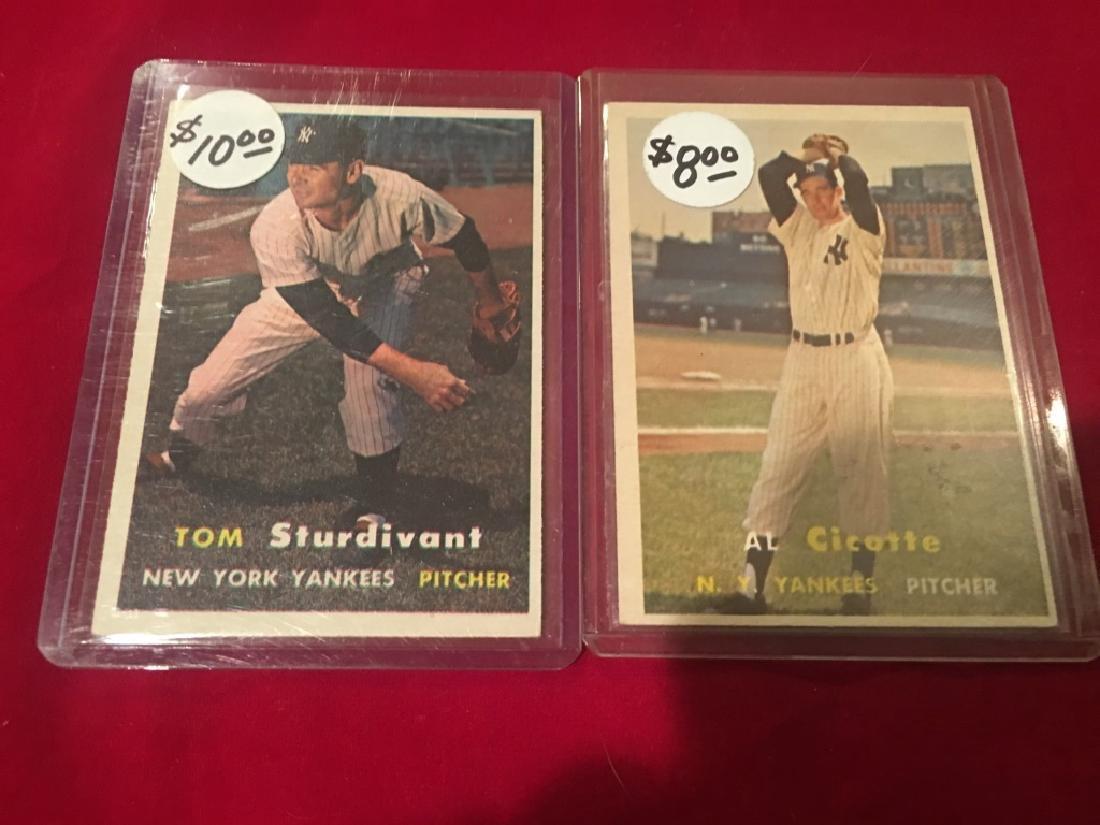1957 TOPPS ^ #34 TOM STURDIVANT Al Cicotte