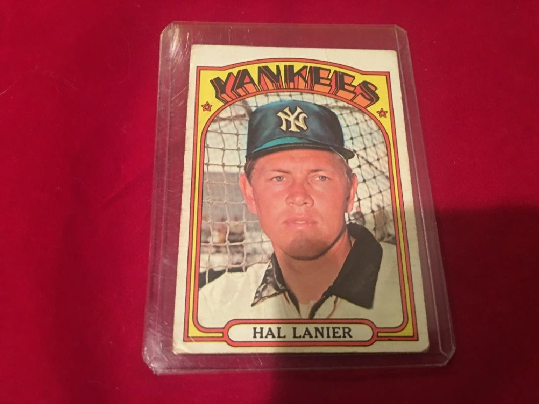1972 Topps #589 Hal Lanier *New York Yankees High